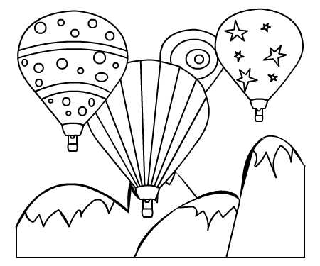 Free Pictures Of Balloons To Color, Download Free Clip Art, Free ... | 375x450