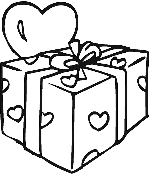 Birthday present coloring pages coloring page gift coloring pages alltoys for negle Images